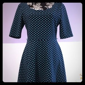 City Triangles Polka Dots Dress